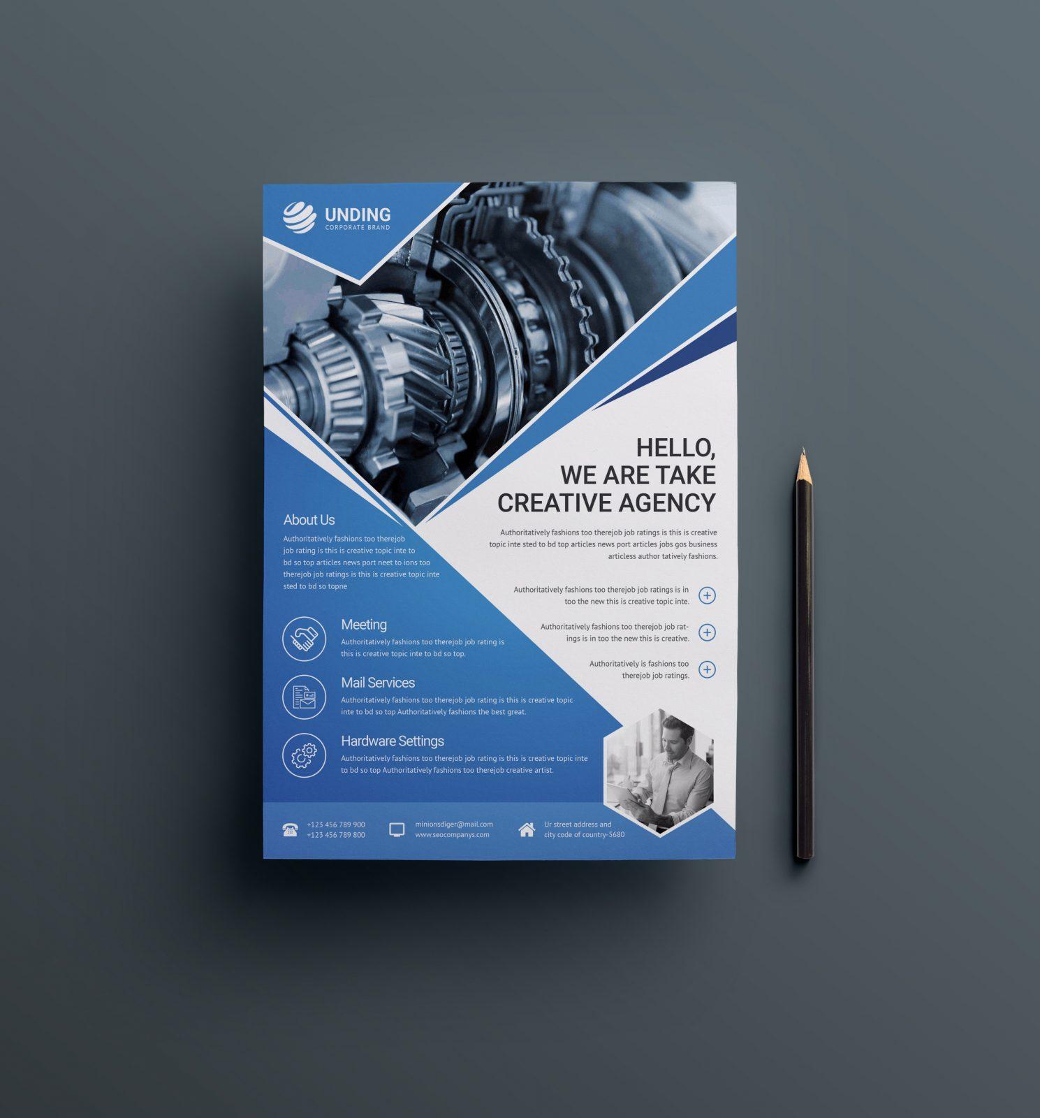 cv format flyer