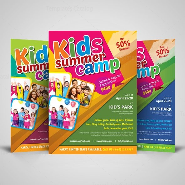 Kids Summer Camp Flyer Design Template 001513 - Template Catalog - Summer Camp Flyer Template