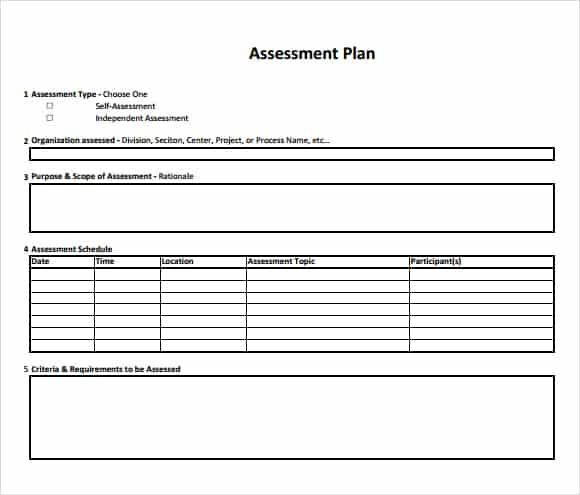 Assessment Example Pdf - Design Templates - assessment plan template