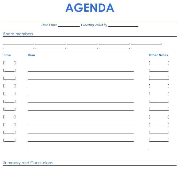 Political Agenda Template Formalmeetingagendatemplate Agendas