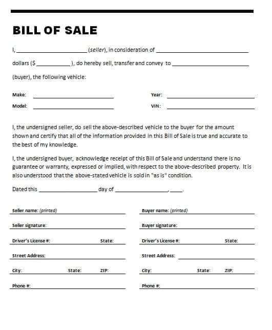 21+ Free Bill of Sale Template - Word Excel Formats - sample boat bill of sale