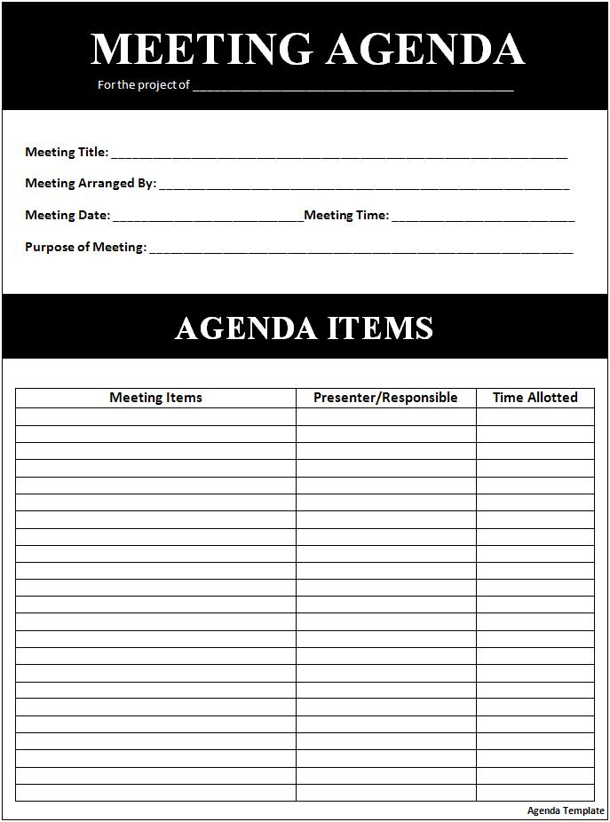 Agenda-Template-download-doc - Agenda Forms