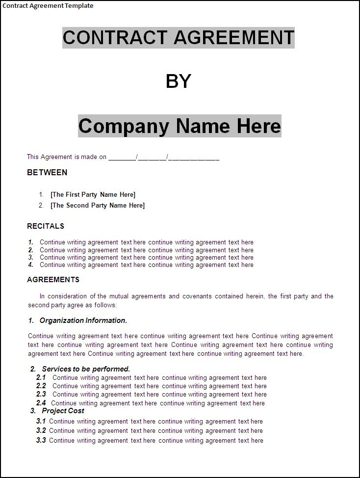 Sample Advertising Contract Template Sample Schedule For Contract - writing contract agreements