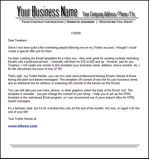 selling-Business-Email-Templates-pdf - name address phone number template