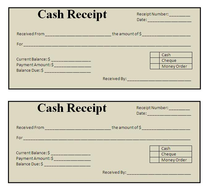 Free-cash-Payment Receipt-printable-templates - cash payment template