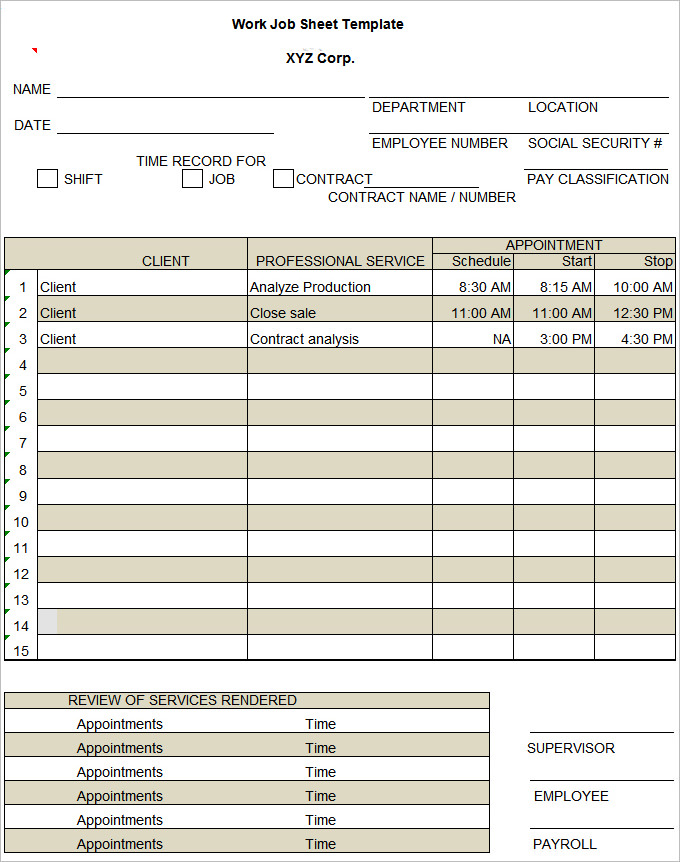 job sheets template passenger service agent sample resume intended