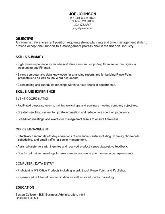 Functional Resume Template Word  Best Job Resume Templates