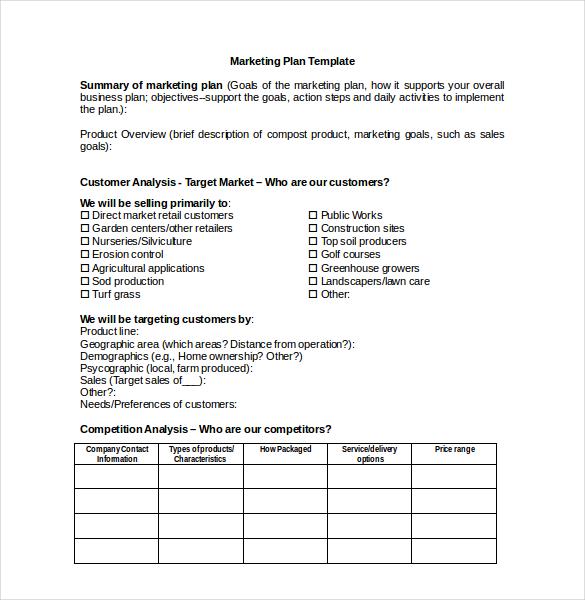 printable business plan template hitecauto - construction business plan template