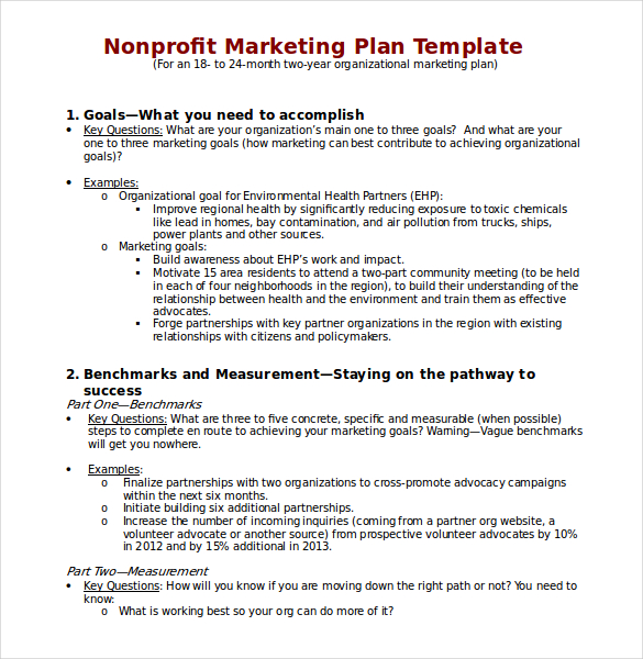 Profit-Marketing-Plan-Template-Download-in-Word - non profit proposal template