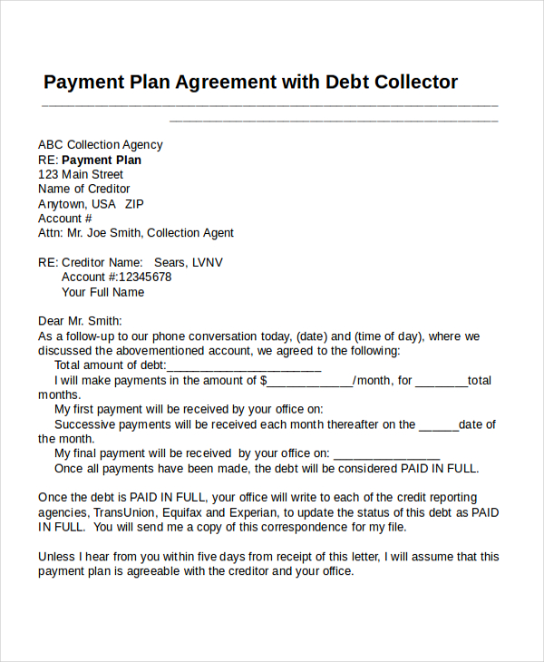 Confidentiality Agreement Samples Templates and Samples - monthly payment contract template