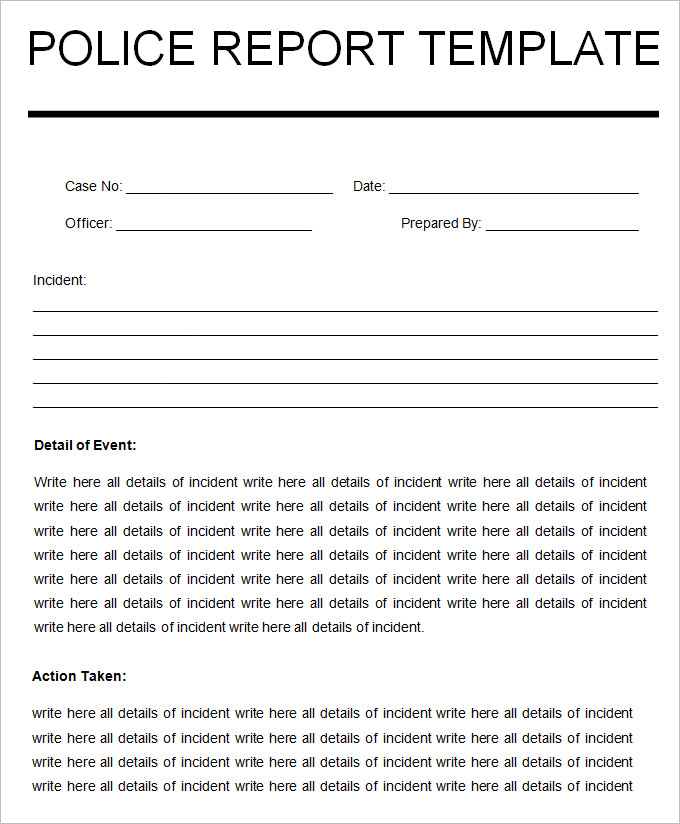 printable-word-doc-Blank-Police-Report-Template - sample report in doc