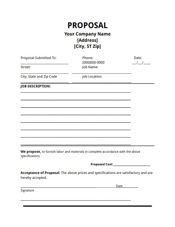 bid proposals templates - Amitdhull - bid proposals