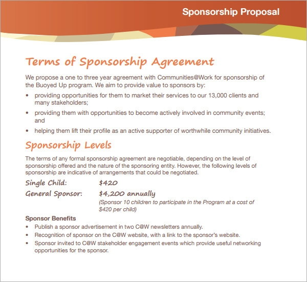 cover letter for sponsorship proposal how to write a proposal letter of sponsorship sample