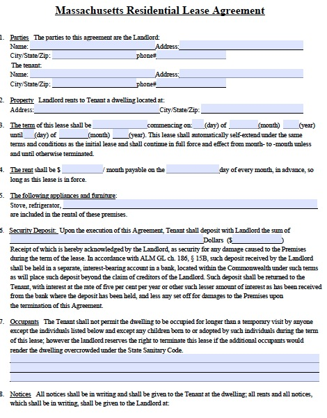 massachusetts-residential-lease-agreement-sample-form-template