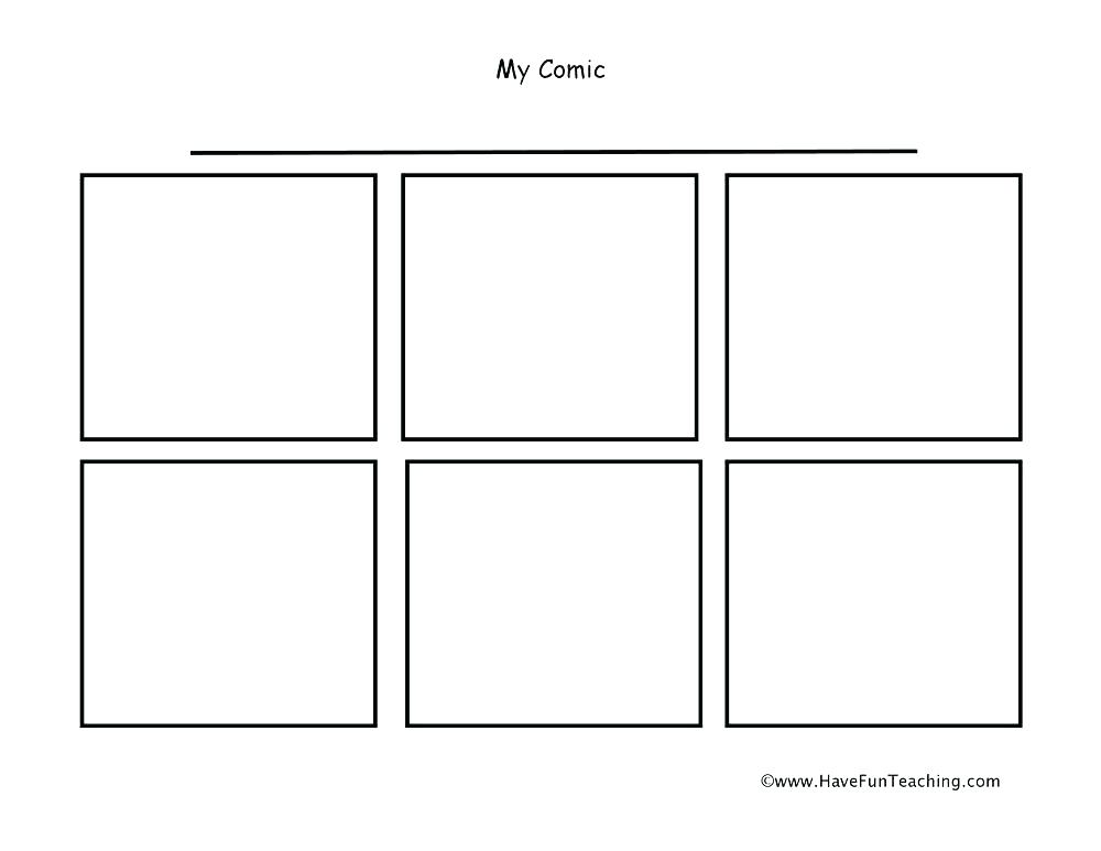 Free Printable Comic Book Templates - Procreate Templates and Samples