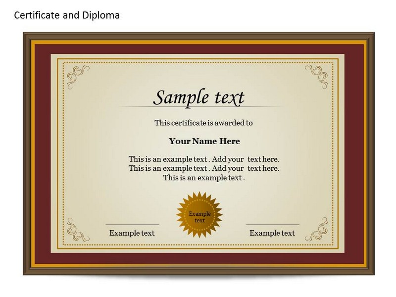 Certificat and Diploma Chart PowerPoint Templates and Backgrounds - powerpoint certificate template