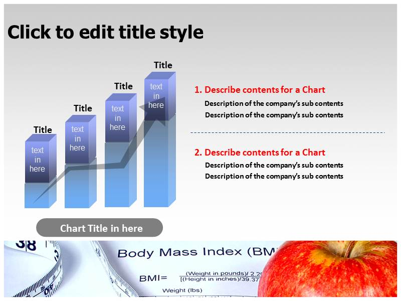 Body Mass Index Fitness Chart PowerPoint Templates Background Of - bmi chart template