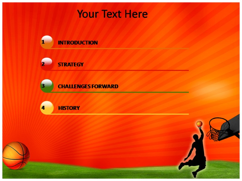 Basketball History PowerPoint Templates Templates On History Of - basketball powerpoint template
