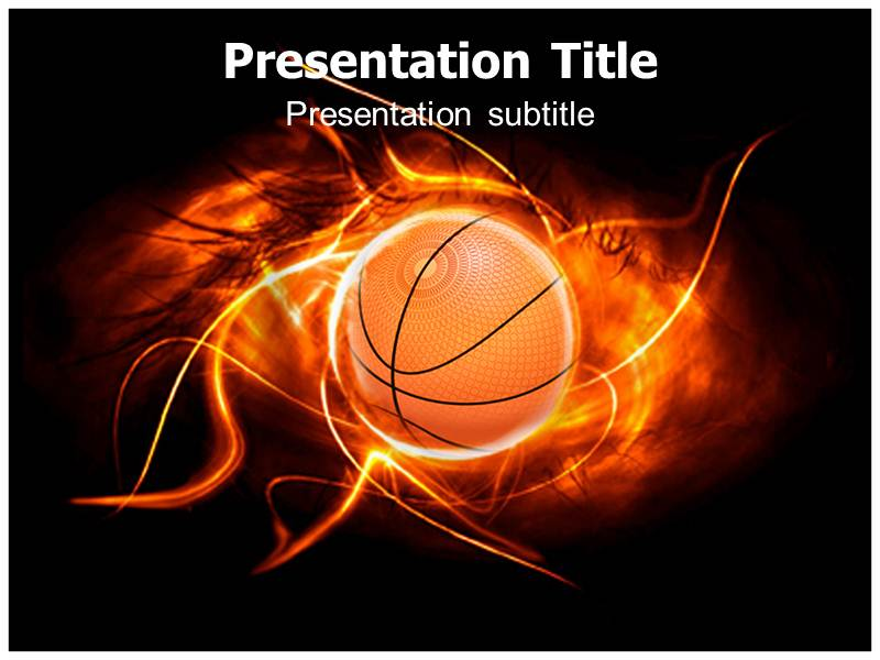 Basketball with Black PowerPoint Templates Backgrounds of Ball - basketball powerpoint template