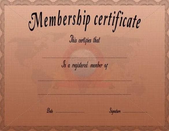membership certificate template trattorialeondoro - membership certificate template