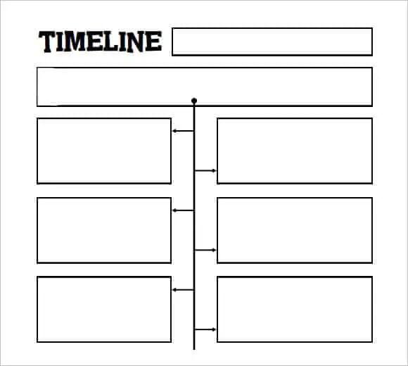 Blank Timeline Template Blank Timeline Template For Kids Sample