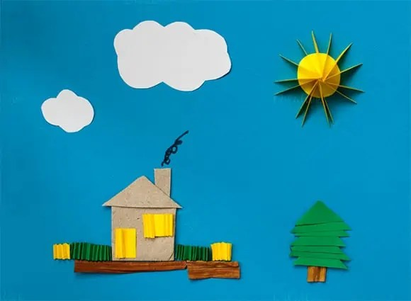 Paper House Template 72