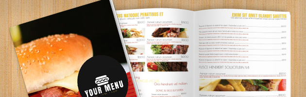Fast Food Menu Template - food menu template
