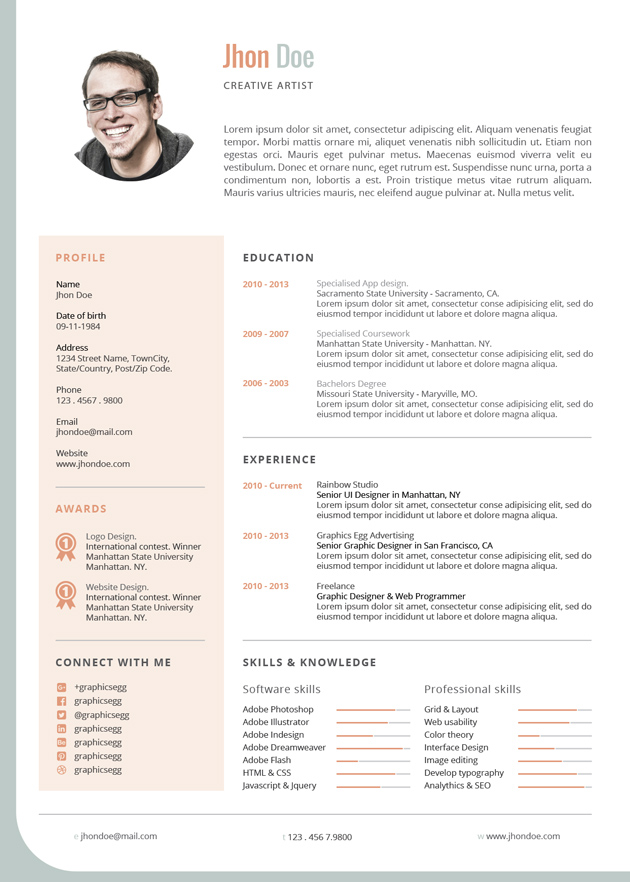 Jade Corporate Cv template - corporate resume template