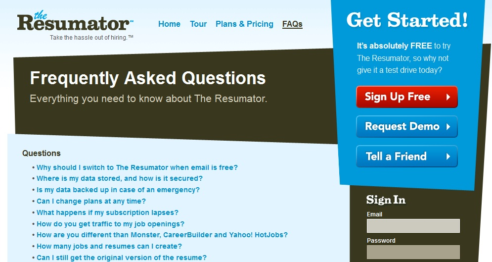 How to Create an Attractive and Useful FAQ Page- (ts) Articles - The Resumator