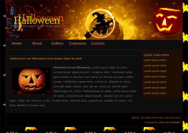 Free Halloween website template Templates Perfect