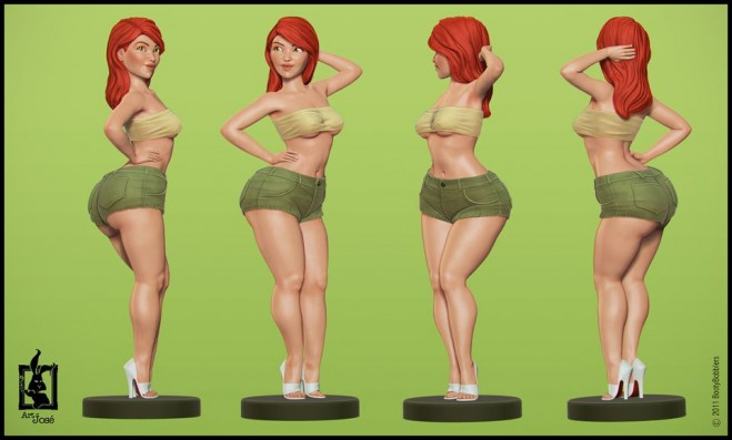 16 Beautiful 3D character Model designs for your inspiration - character model template