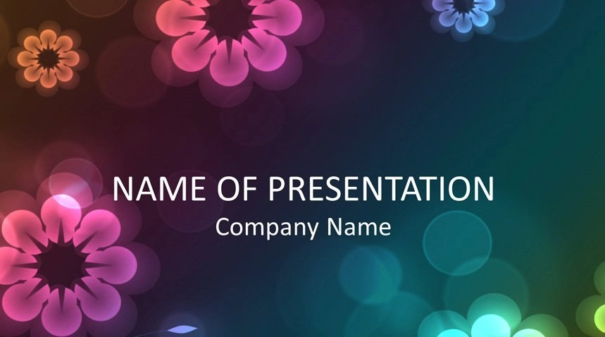 Floral PowerPoint Background - Templateswise