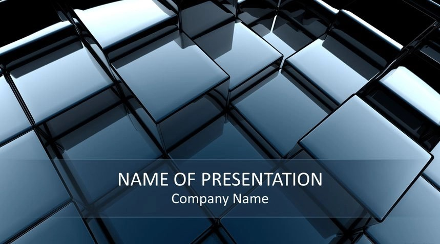 3D Cubes PowerPoint Template - Templateswise