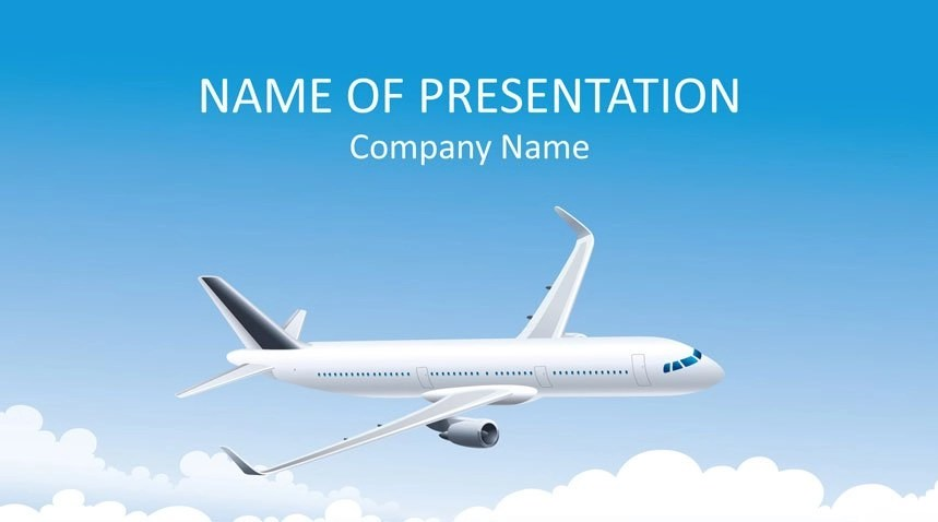 Airplane PowerPoint Template - Templateswise