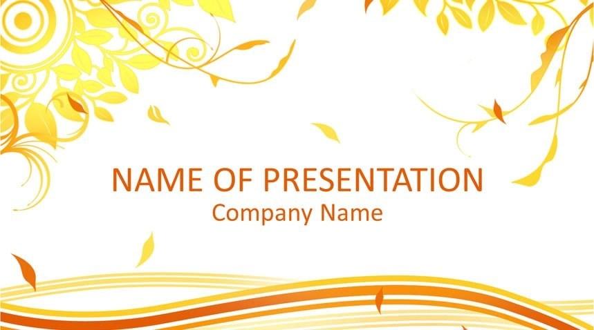 Autumn PowerPoint Template - Templateswise