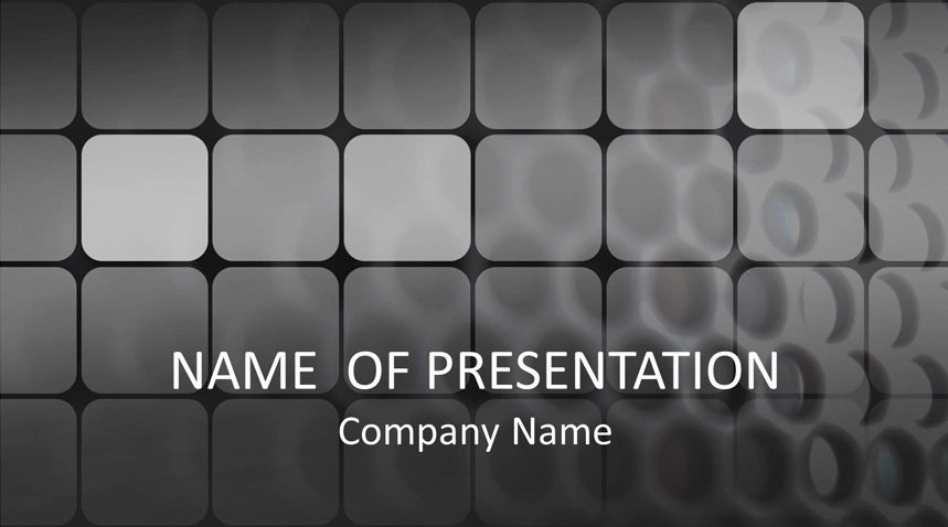 Black Grid PowerPoint Template - Templateswise