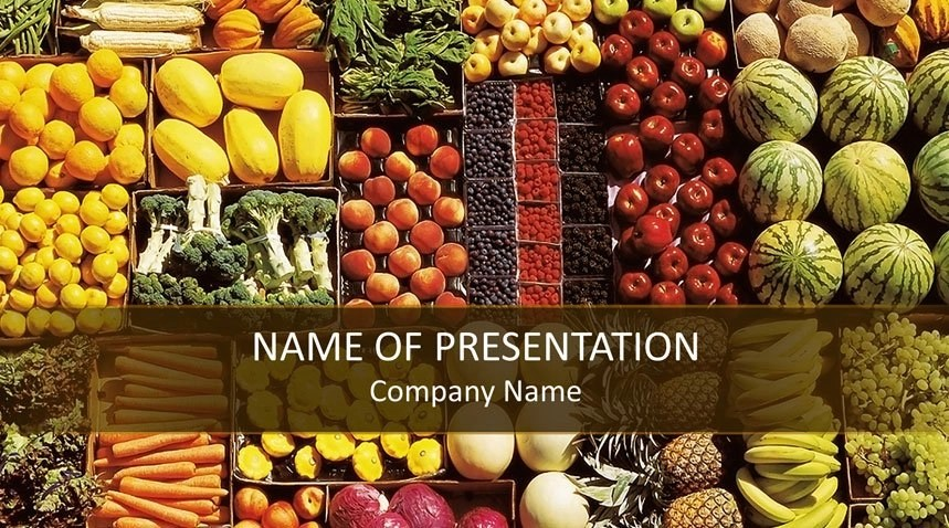 Healthy Food PowerPoint Template - Templateswise