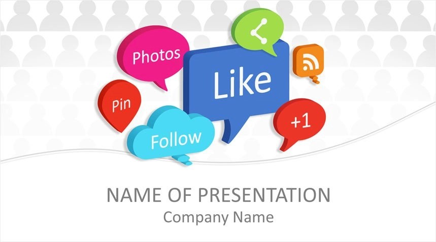 Social Media Bubbles PowerPoint Template - Templateswise