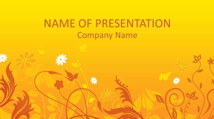 Summer Flowers PowerPoint Template - Templateswise