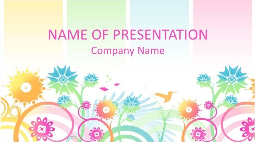 Colorful Floral PowerPoint Background - Templateswise