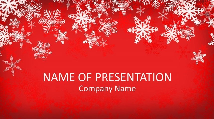Snowflakes PowerPoint Template - Templateswise