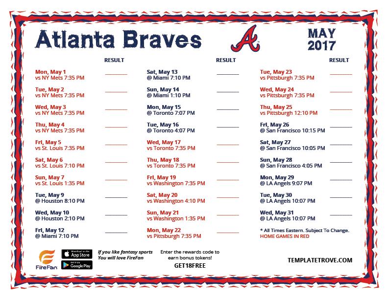 Free Ticket Template Printable Free Ticket Template Lovetoknow May 2017  Atlanta Braves Printable Schedule