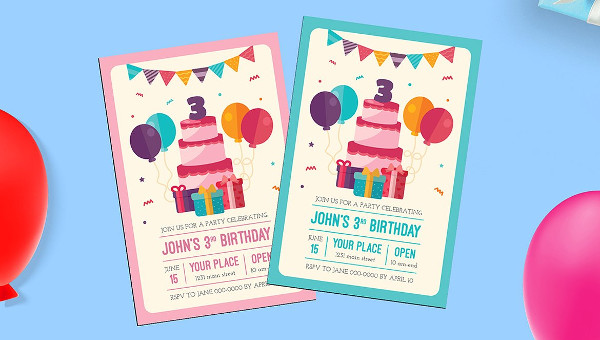 23+ Kids Birthday Invitation Flyer Templates - Free PSD Vector Downloads