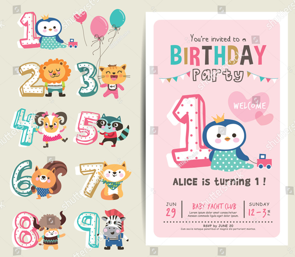 31+ Printable Birthday Party Invitation - Free PSD, PNG, Vector Download