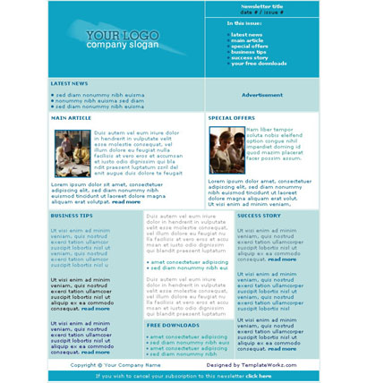 free professional newsletter templates - Onwebioinnovate - free newsletter layouts