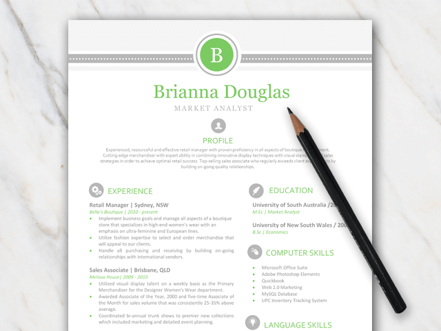 vibrant business resume templates free