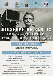 Centenario De Santis locandina