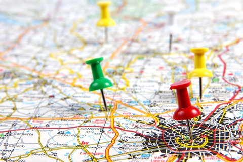 Works Archive - Auto Transport Broker - pins on a map