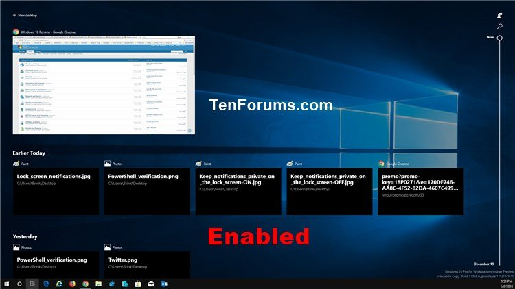 Enable or Disable Timeline in Windows 10 Windows 10 Tutorials - timeline windows