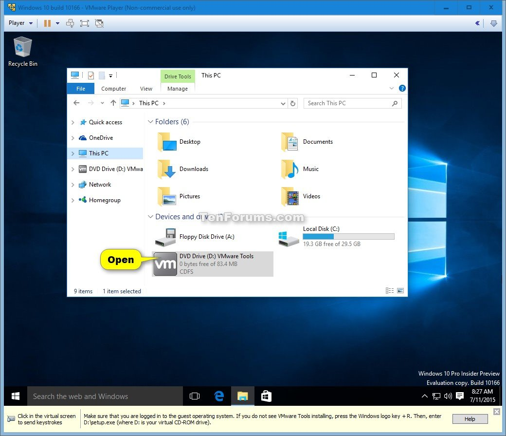 Show me how to play a dvd in windows 10 - Click Image For Larger Version Name Windows_10_vmware_player 15 Jpg Views 606 Download Show Me How To